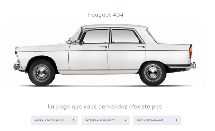 Ancienne voiture Peugeot page 404